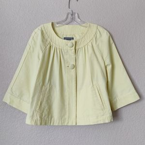 Ann Taylor Yellow Button Jacket 100% Cotton